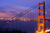 Dusk, Golden Gate Bridge, North Tower — Stock Photo