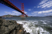 Golden Gate Bridge from Fort Point — Stock Photo