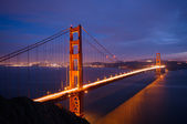 Golden Gate Bridge after spring storm — Stock Photo