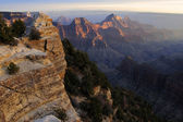 Grand Ganyon, North Rim, Wotan Throne — Stock Photo