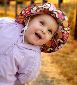 Infant girl goofing around — Stock Photo