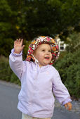 Infant girl playing — Stock Photo