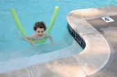 Girl's first swim — Photo