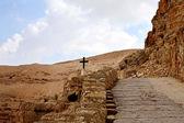 Road to the monastery — Stock Photo