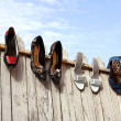 Stock Photo: Four pairs of ladies shoes