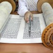 Stock Photo: Reading Torah scroll