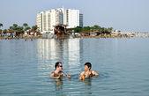Bathing in the Dead Sea — Stock Photo