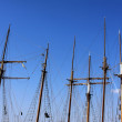 Stock Photo: Masts of sailing vessels