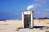 Beach toilet — Stockfoto
