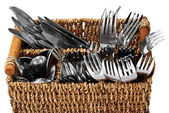Knifes and forks — Stock Photo
