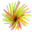 Plastic straws for a cocktail — Stock Photo #36128263