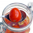 Marinaded tomatoes — Stock Photo