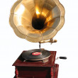 Antiquarian record player — Stock Photo