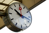 Round station clock — Stock Photo