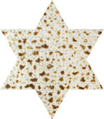 Matzah in the form magendavid — Stock Photo