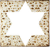Matzah and magendavid — Stock Photo