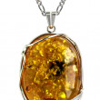 Stock Photo: Amber pendant