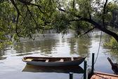 Cais no rio — Foto Stock