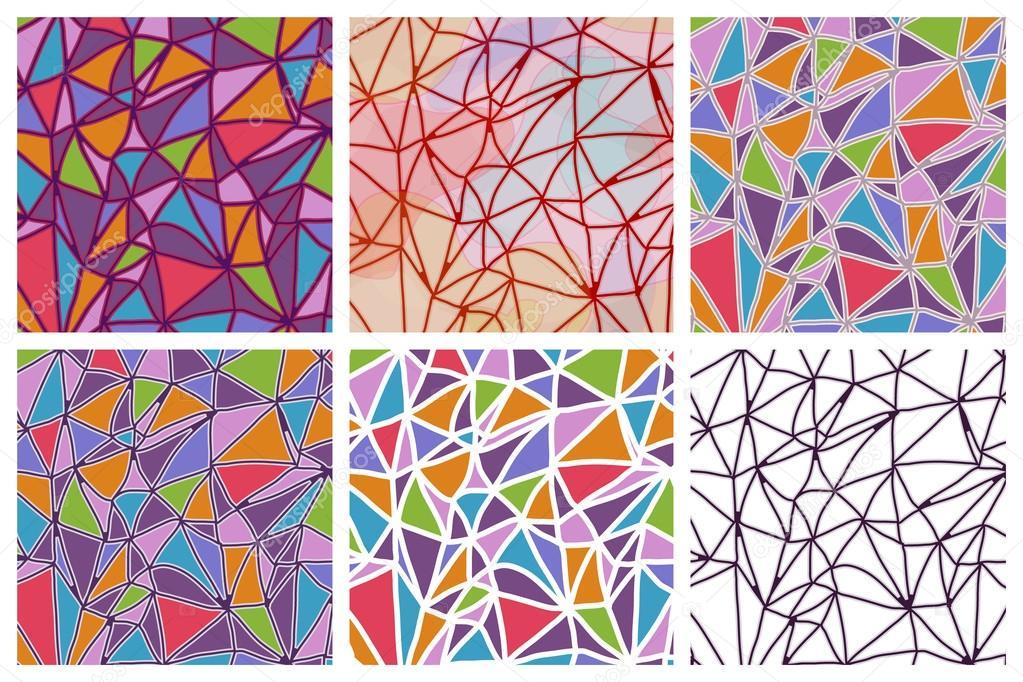 无缝三角形纹理,抽象图