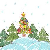 クリスマスの背景をベクトルします。 — ストックベクタ