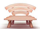 Vector wooden bench — Stock Vector