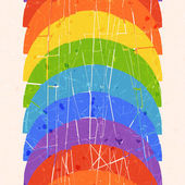 Patrón vertical sin soldadura con arco iris — Vector de stock