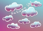 Clouds on autumn sky — Stock vektor