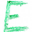 E letter painted on white background — Stock Photo #36032645