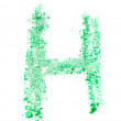 H letter painted on white background — Stock Photo #36032683