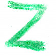 Z letter painted on white background — Stock Photo #36032813