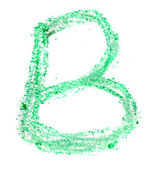 B letter painted on a white background — Stock Photo