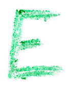 E letter painted on a white background — Stock Photo