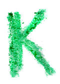 K letter painted on a white background — Stock Photo