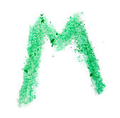M letter painted on a white background — Stock Photo