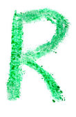 R letter painted on a white background — Stock Photo