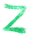 Z letter painted on a white background — Stock Photo