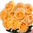 Beautiful bouquet of yellow roses — Stok fotoğraf