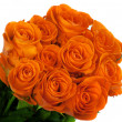 Beautiful bouquet of orange roses — Stock Photo