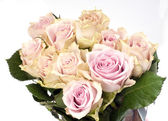 Beautiful bouquet of pink roses — Stock Photo