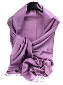 Purple scarf — Stock Photo