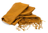 Gold scarf — Stock Photo