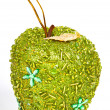 Green christmas apple — Stock Photo