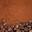Coffee Beans and Granulated Instant Coffee — Stock Photo
