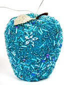 Blue christmas apple — Stockfoto