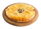 Khachapuri Georgian cheese pastry — Stock Photo