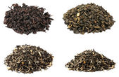 Tea collection isolated on white background — Stock Photo