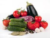 Vegetables on white — Stock Photo