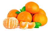 Tangerine op wit — Stockfoto