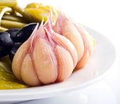 Marinad garlic — Stock Photo