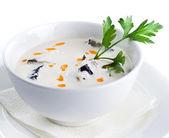 きのこのクリーム スープ — ストック写真